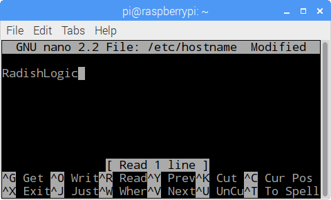 Changing the hostname of the Raspberry Pi.