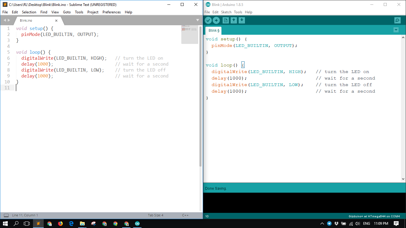 Using an External Text Editor in Arduino IDE - Radish Logic