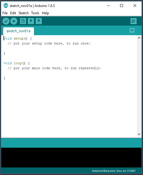 First look at the Arduino IDE