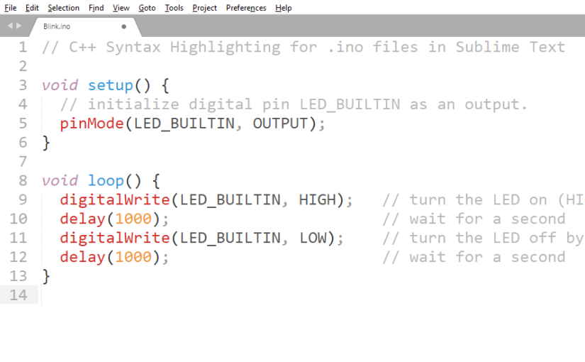 Setting Arduino .ino files to open as C++ files in Sublime Text
