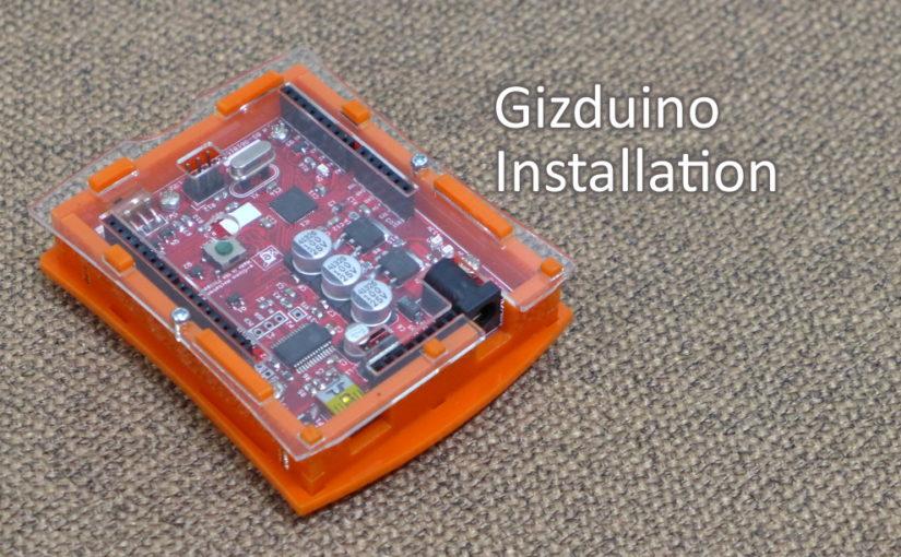 Gizduino Patch Installation in Windows 10