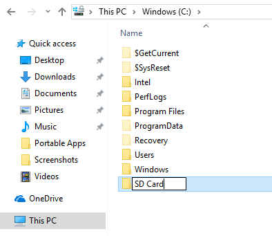 Making an SD Card as Permanent Storage in Windows 10
