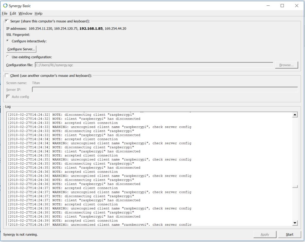 Radish Logic Developer Blog Circuithelp Arduino Micro Screenshot Of Synergy On A Windows Computer