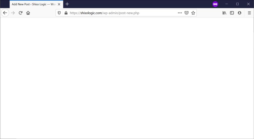 Admin page blank login wordpress Joomla admin